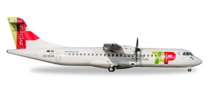 TAP Portugal ATR-72-600 Improved Mould Reg# CS-DJA Herpa 530064 Scale 1:500