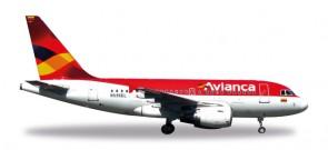 Avianca Colombia Airbus A318 Reg# N59SEL Die-Cast  Herpa 530088 1:500