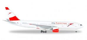 Austrian Boeing 777-200 Reg# OE-LPD Servus Hong Kong Die-cast Herpa 530132 Scale 1:500