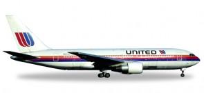 United Boeing B767-200 Saul Bass Reg# N607UA city of Denver Herpa Die Cast 530178 Scale 1:500