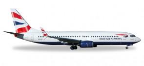 British-Comair Boeing 737-800 Reg# ZS-ZWG Herpa 530408 Scale 1:500