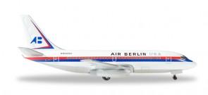 First Air Berlin Boeing 737-200 USA Registration N9020U Herpa 530453 Scale 1:500