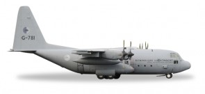 Royal Netherlands Air Force Hercules C-130H  Lockheed 336 Squadron G-781 Herpa 530477 Scale 1:500