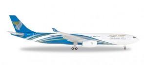 Oman Air Airbus A330-300 Reg# A40-DI Herpa Die Cast 530484 Scale 1:500