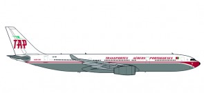 TAP Retro 1980's Livery Airbus A330-300 Reg# CS-TOV Herpa Die Cast 530668 Scale 1:500