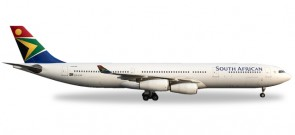 South African Airbus A340-300 Nelson Mandela registration: ZS-SXF Herpa wings 530712 Scale 1:500