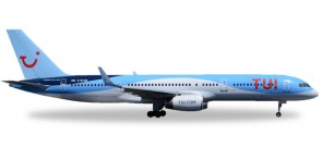 UK TUI Thomson Boeing 757-200 New Standard Livery registraton G-BYAW Herpa 530903 Scale 1:500