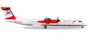 "Austrian Airlines Bombardier Q400 ""Gmunden"" OE-LGN Herpa 530910 1:500"