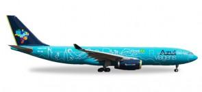 Azul Airbus A330-200 Azul Viagens registration PR-AIU Herpa 530927 scale 1:500