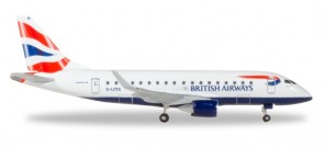 British Airways Cityflyer Embraer E-170 G-LCYG Herpa531092 1:500
