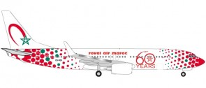 "Royal Air Maroc Boeing 737-800 ""60th anniversary"" CN-RGV Herpa Wings 531153 1:500"