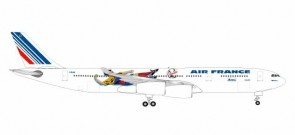 Air France Airbus A340-300 France 1998 Brazil/Columbia F-GLZK Herpa 531412  Scale 1:500