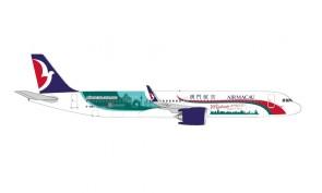 Air Macau Airbus A321neo 澳門航空 B-MBQ Macau Welcomes you Herpa 534444 scale 1:500