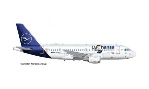 Lufthansa Airbus A319 Herpa Wings 534451 scale 1:500