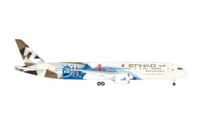 Etihad Boeing 787-9 Dreamliner A6-BLE Choose the USA Herpa Wings 534543 scale 1:500