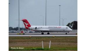 Qantas Fokker F-100 VH-NHP Herpa Wings 534567 diecast scale 1:500