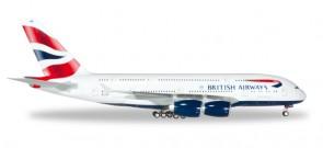 British Airways Airbus A380 Reg# G-XLEL Herpa 556040-001 Scale 1:200