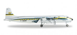 556729  UAT - Union Aéromaritime de Transport (late colors) Douglas DC-6B HE556729  scale model Herpa