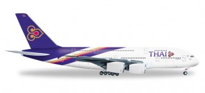 Herpa 556774 1:200  Thai Airways Airbus A380-800 Chai Ya HS-TUC