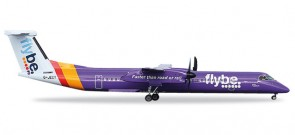 Flybe Bombardier Q400 Registration# G-JECY Herpa 557160 Scale 1:200