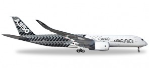 "Airbus A350XWB ""Carbon ColorScheme"" Reg# F-WWCF Herpa Wings HE557344 Scale 1:200"