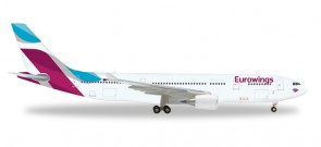 Eurowings Airbus A330-200 Reg# D-WING Herpa Wings HE557399 Scale 1:200