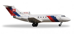Slovak Air Force Yakolev Yak-40 Herpa Die-Cast Wings HE557733 Scale 1:200