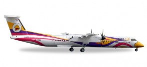 "Nok Air Bombardier Q400 ""Anna""  Made of metal Registration# HS-DQA Herpa 558044 Scale 1:200"