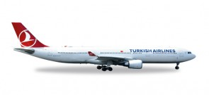 Turkish Airlines A330-300 Euro France 2016 Herpa HE558105 Scale  1:200