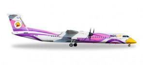 """Purple Nok Air Bombardier Q400 """"Nok Anna"""" Made of metal Reg# HS-DQB 558136 Scale 1:200"""
