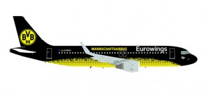 Eurowings A320 Sharklets Borussia Dortmund BVB 09 Reg# D-AIZR 558167 Scale 1:200