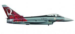 """Luftwaffe Eurofighter Typhoon TaktLwG 71 """"Richthofen"""" Herpa 558198 Scale 1:200"""