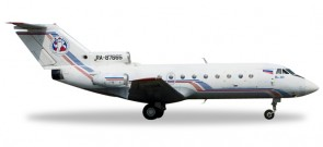 Vologda Air Company Yak-40 Registration RA-87665 Herpa Die-Cast 558235 Scale 1:200