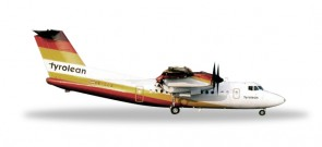 Tyrolean Airways De Havilland Canada DHC-7 Reg# GE-LLS 558419 Herpa Scale 1:200