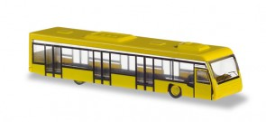 Set of 2 Airport Buses Yellow Herpa Scenix Accessories 558631 Scale 1:200