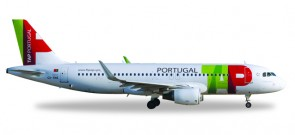 TAP Portugal Airbus A320 Sharklets Reg# CS-TNS Alfonso Henriques Herpa 558747 Scale 1:200