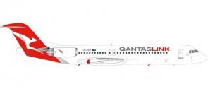 Qantas Link Fokker 100 New Livery registration VH-NHP Herpa 559096 die cast Scale 1:200