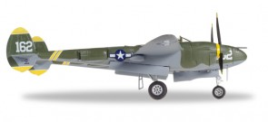 US Army P-38 Lightning Airworthy Chino CA Cap. Perry J Pee Wee Herpa 580229  Scale 1:72