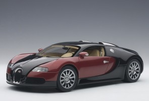 Red & Black Bugatti EB 16.4 Veyron Production Car Beige Interior L.E. 1200 Pcs Worldwide AUTOart 70909 Scale 1:18