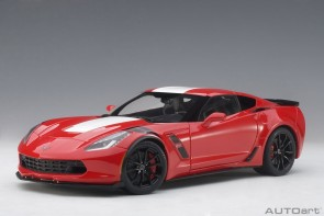 Chevrolet Corvette Grand Sport red with white/black stripes AUTOart 71274 1:18