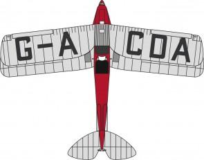 """De Havilland DH.82A Tiger Moth 1/72 Die Cast Model """"G-ACDA, School of Flying"""