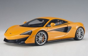 Orange McLaren 570S silver wheels AUTOart Model 76044 die-cast scale 1:18