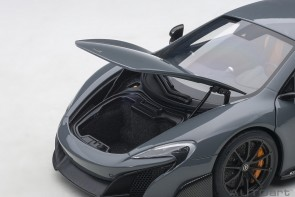 McLaren 675LT Chicane Grey die-cast AUTOart Model 76047 scale 1:18