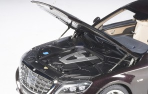 Dark metallic Red Maybach Mercedes S600 Pullman AUTOart 76299  1:18