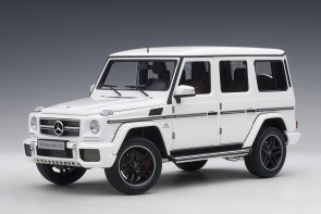 Gloss White gloss Mercedes G63 2017 die-cast AUTOart 76321 scale 1:18