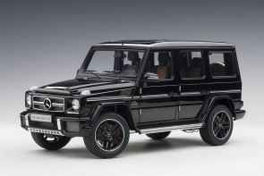 Black gloss Mercedes G63 2017 die-cast model AUTOart 76322 scale 1:18