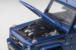 Anniversary Mauritius Blue Black gloss Mercedes G63 AUTOart 76324 scale 1:18