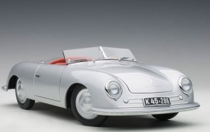 Porsche 356 Number 1 Silver die-cast model AUTOart 78072 scale 1:18
