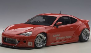 Red Toyota 86 Rocket Bunny Silver Wheels AUTOart 78757 Scale 1:18