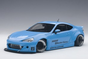 Toyota 86 Sky Blue Rocket Bunny w/Black Wheels AUTOart 78758 1:18